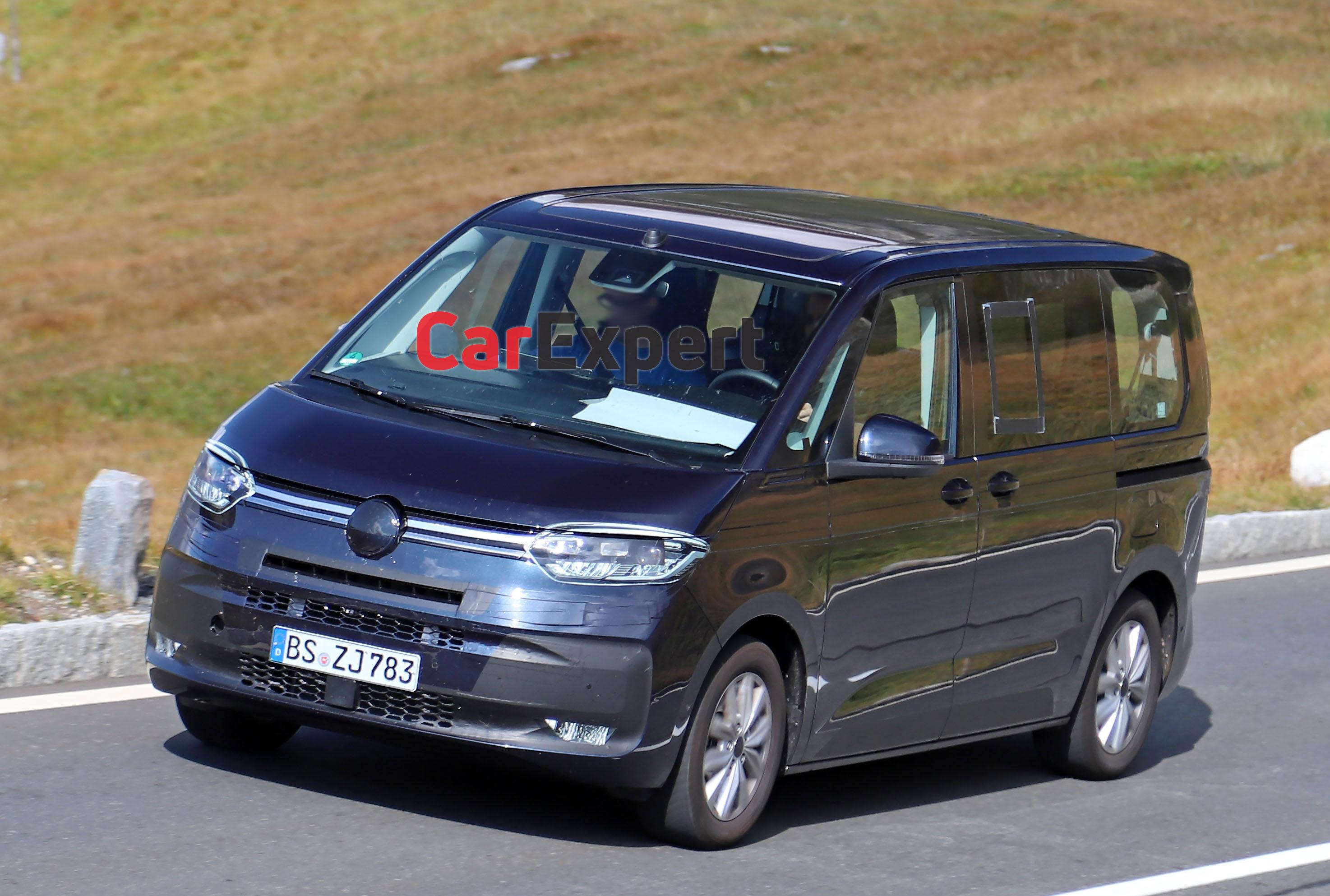 2022 Volkswagen T7 Multivan spied inside and out