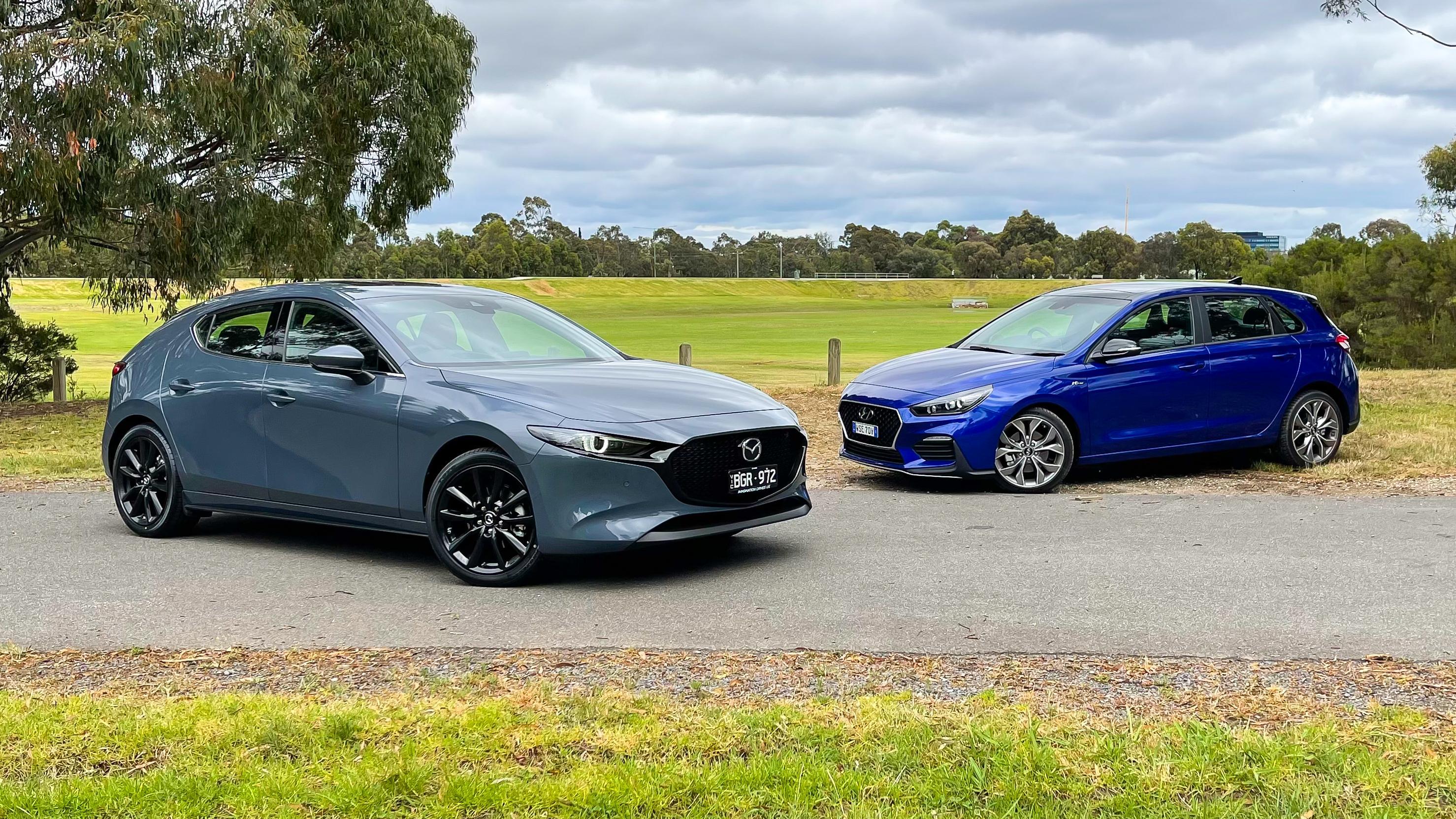 2021 Hyundai i30 N Line Premium v Mazda 3 G25 Astina comparison