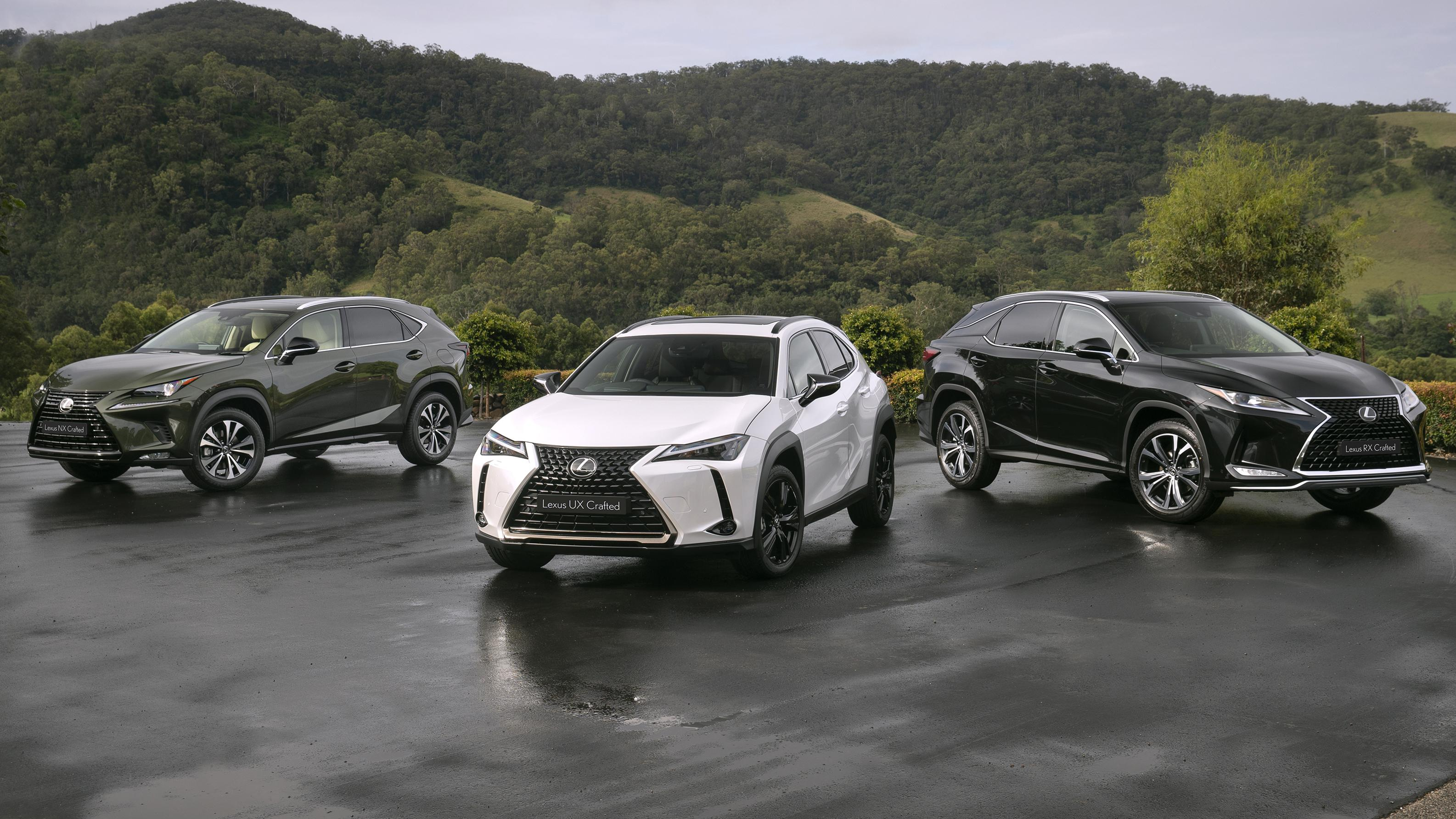 Lexus UX, NX and RX Crafted Edition prices
