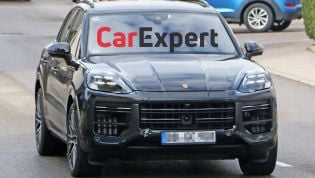 2022 Porsche Cayenne facelift spied inside and out